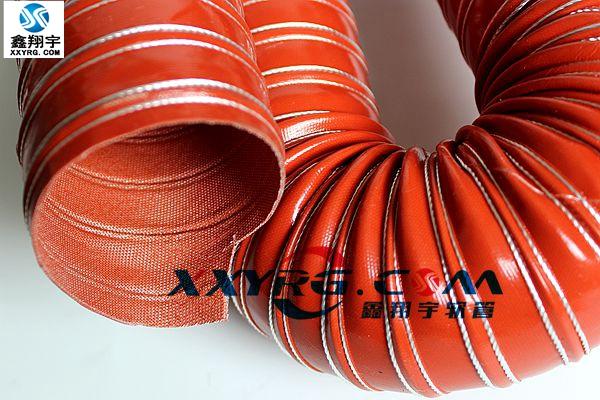 矽胶高温风管,红色耐高温软管