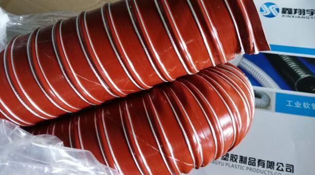耐高温风管又增新案例——订制耐高温耐负压吸料管