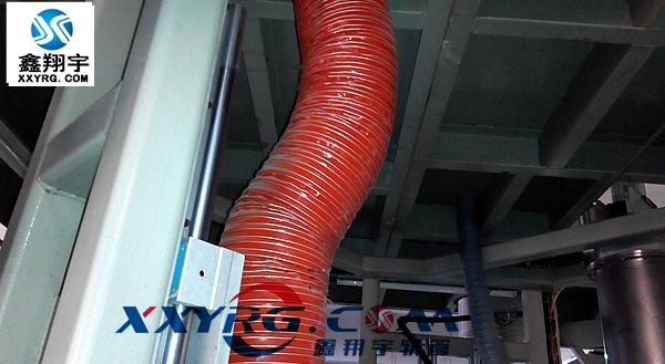 红色耐高温阻燃通风软管 耐高温阻燃防火使用方便